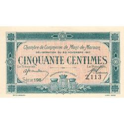 Mont-de-Marsan - Pirot 82-25 - 50 centimes - Série 195 - 1917 - Etat : NEUF