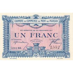 Mont-de-Marsan - Pirot 82-28 - 1 franc - Série 84 - 23/11/1917 - Etat : SPL