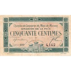 Mont-de-Marsan - Pirot 82-30 - Série 209 - 50 centimes - 1918 - Etat : TB+