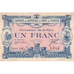 Mont-de-Marsan - Pirot 82-32 - 1 franc - Série 112 - Emission de la Paix - Etat : TB+