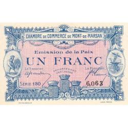 Mont-de-Marsan - Pirot 82-32 - 1 franc - Série 130 - Emission de la Paix - Etat : SPL