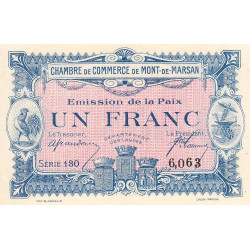Mont-de-Marsan - Pirot 82-32 - Série 130 - 1 franc - 1918 - Etat : SPL