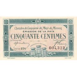 Mont-de-Marsan - Pirot 82-34 - 50 centimes - Série 274 - Emission de la Paix 1921 - Etat : SUP+