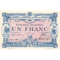Mont-de-Marsan - Pirot 82-35 - 1 franc - Série 161 - Emission de la Paix 1921 - Etat : SPL
