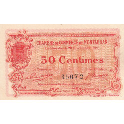 Montauban - Pirot 83-1 variété - 50 centimes - 1914 - Etat : SUP+