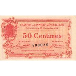Montauban - Pirot 83-1 variété - 50 centimes - 1914 - Etat : SUP