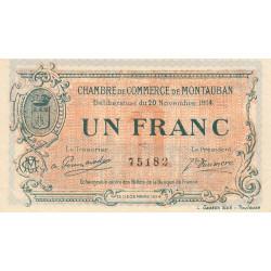 Montauban - Pirot 83-6 variété - 1 franc - 1914 - Etat : SUP+