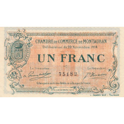 Montauban - Pirot 83-6a - 1 franc - Etat : SUP+