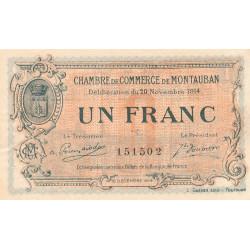 Montauban - Pirot 83-6 - 1 franc - 1914 - Etat : SUP+