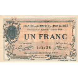 Montauban - Pirot 83-6 variété- 1 franc - 1914 - Etat : SUP+