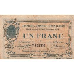 Montauban - Pirot 83-6 variété - 1 franc - 1914 - Etat : TB