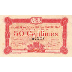 Montauban - Pirot 83-13 - 50 centimes - 1917 - Etat : TTB+