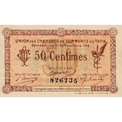 Albi / Castres / Mazamet (Tarn) - Pirot 5-1a - 50 centimes - 1914 - Etat : SUP
