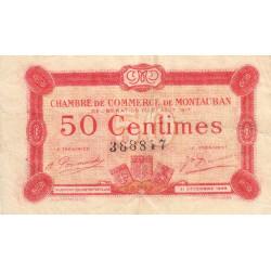 Montauban - Pirot 83-13 variété - 50 centimes - 1917 - Etat : TB+