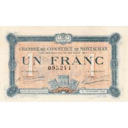 Montauban - Pirot 83-15 - 1 franc - 1917 - Etat : SUP