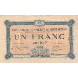 Montauban - Pirot 83-15 variété- 1 franc - 1917 - Etat : TB+