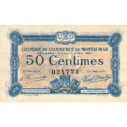 Montauban - Pirot 83-17 - 50 centimes - 1921 - Etat : SUP