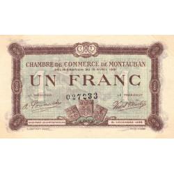 Montauban - Pirot 83-19 - 1 franc - 1921 - Etat : SUP