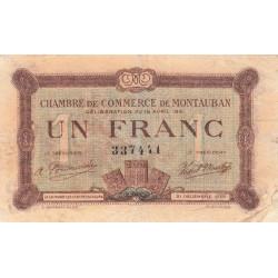 Montauban - Pirot 83-19 - 1 franc - 1921 - Etat : TB