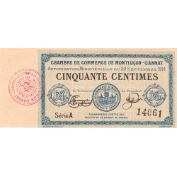 Montluçon / Gannat - Pirot 84-1 - 50 centimes - Etat : NEUF