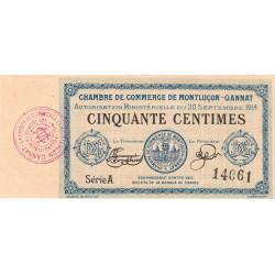 Montluçon-Gannat - Pirot 84-1 - 50 centimes - Série A - 1914 - Etat : NEUF