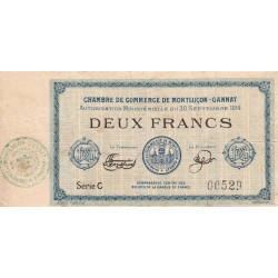 Montluçon-Gannat - Pirot 84-6 - Série C - 2 francs - 1914 - Etat : TB-
