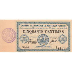 Montluçon / Gannat - Pirot 84-7 - 50 centimes - Etat : SPL à NEUF