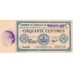 Montluçon-Gannat - Pirot 84-10 - Série A - 50 centimes - 1914 - Etat : TTB+