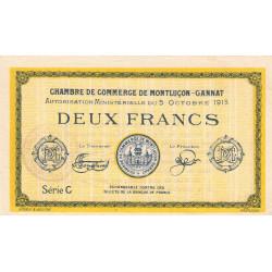 Montluçon-Gannat - Pirot non répertorié - Série C - 2 francs - Spécimen - 1915 - Etat : SUP