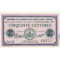 Montluçon-Gannat - Pirot 84-35 - Série A - 50 centimes - 1917 - Etat : NEUF