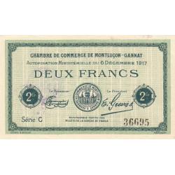 Montluçon-Gannat - Pirot 84-39 - 2 francs - Série C - 1917 - Etat : SUP+