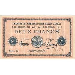 Montluçon-Gannat - Pirot 84-44 - Série C - 2 francs - 1918 - Etat : SPL