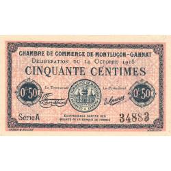 Montluçon-Gannat - Pirot 84-46 - Série A - 50 centimes - 1918 - Etat : SUP+