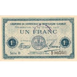 Montluçon / Gannat - Pirot 84-48b - 1 franc - Etat : SUP