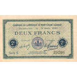 Montluçon / Gannat - Pirot 84-54 - 2 francs - Etat : TTB
