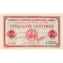 Montluçon-Gannat - Pirot 84-61 - 50 centimes - Série A - 1921 - Etat : NEUF