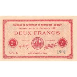 Montluçon-Gannat - Pirot 84-65 - 2 francs - Série C - 1921 - Etat : NEUF