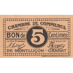Montluçon-Gannat - Pirot 84-66a - 5 centimes - Etat : NEUF