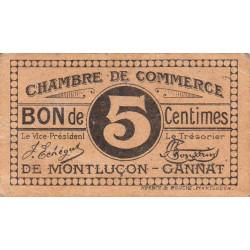 Montluçon / Gannat - Pirot 84-66a - 5 centimes - Etat : TTB