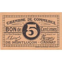 Montluçon-Gannat - Pirot 84-66b - 5 centimes - Etat : NEUF