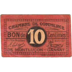 Montluçon-Gannat - Pirot 84-67 - 10 centimes - Etat : TB+
