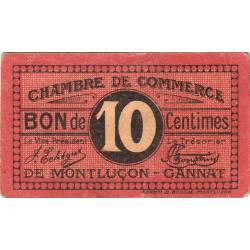 Montluçon-Gannat - Pirot 84-67b - 10 centimes - Etat : TTB