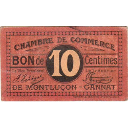 Montluçon / Gannat - Pirot 84-67 - 10 centimes - Etat : TTB+