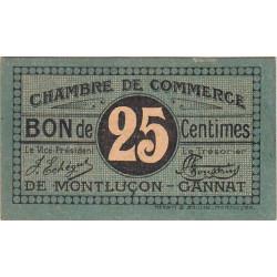 Montluçon-Gannat - Pirot 84-68a - 25 centimes - Etat : SPL