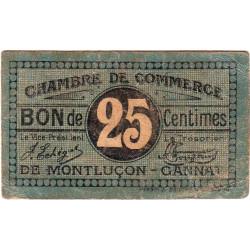 Montluçon-Gannat - Pirot 84-68b - 25 centimes - Etat : TB