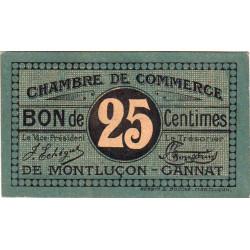 Montluçon / Gannat - Pirot 84-68b - 25 centimes - Etat : pr.NEUF