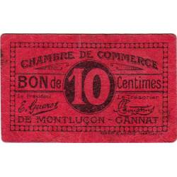 Montluçon / Gannat - Pirot 84-73a - 10 centimes - Etat : TB+