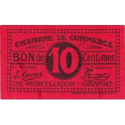 Montluçon-Gannat - Pirot 84-73a - 10 centimes - Etat : B+