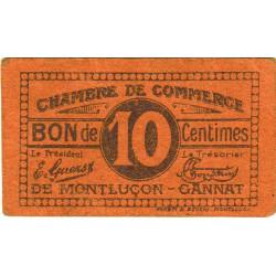 Montluçon-Gannat - Pirot 84-73b - 10 centimes - Etat : B+