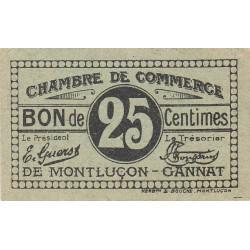 Montluçon-Gannat - Pirot 84-74a - 25 centimes - Etat : SPL